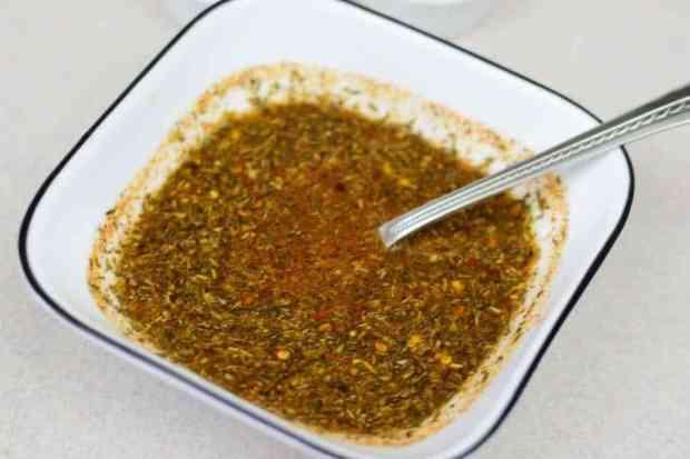 Cajun Beef Jerky Mixing Seasoning in a bowl