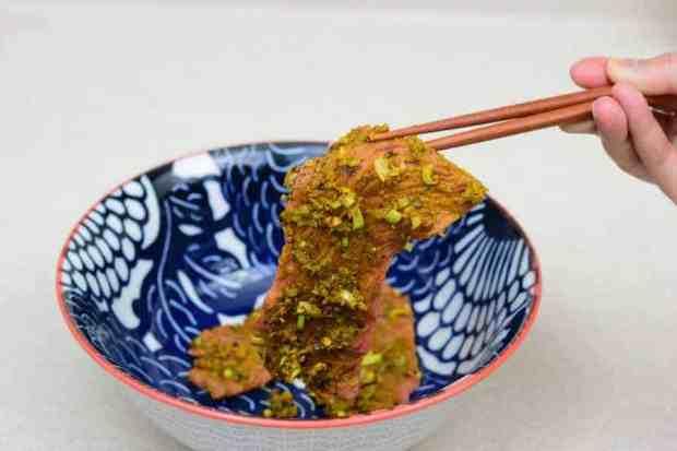 Vietnamese Jerky in Bowl