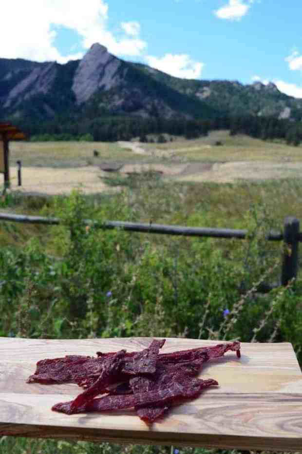This fresh garden tasting beef jerky hits the spot when hiking the trails and getting out in nature | Jerkyholic.com