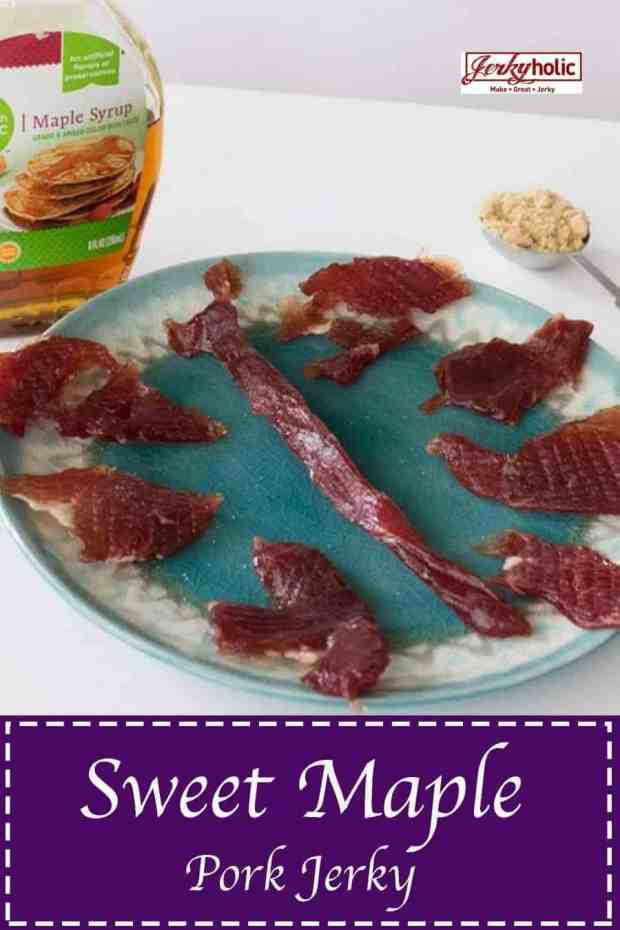 Can you make jerky out of Pork? YES!!! It tastes great too! This sweet recipe worked very well with pork, you will definitely love it...