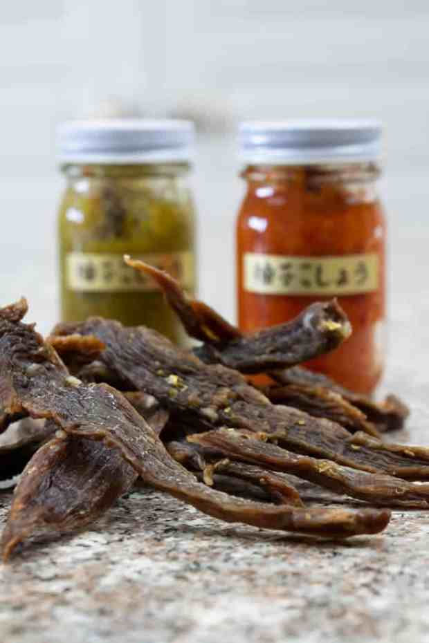 Yuzu jerky finished