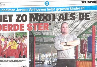Voormalig (pizza) keeper Jeroen Verhoeven helpt kinderen met beperking.