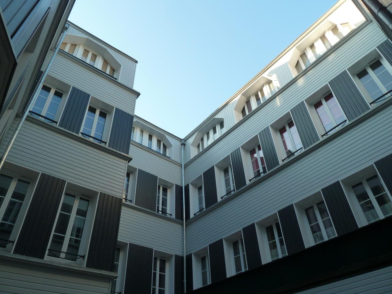 Après-façades sur cour 33 logements à Rouen
