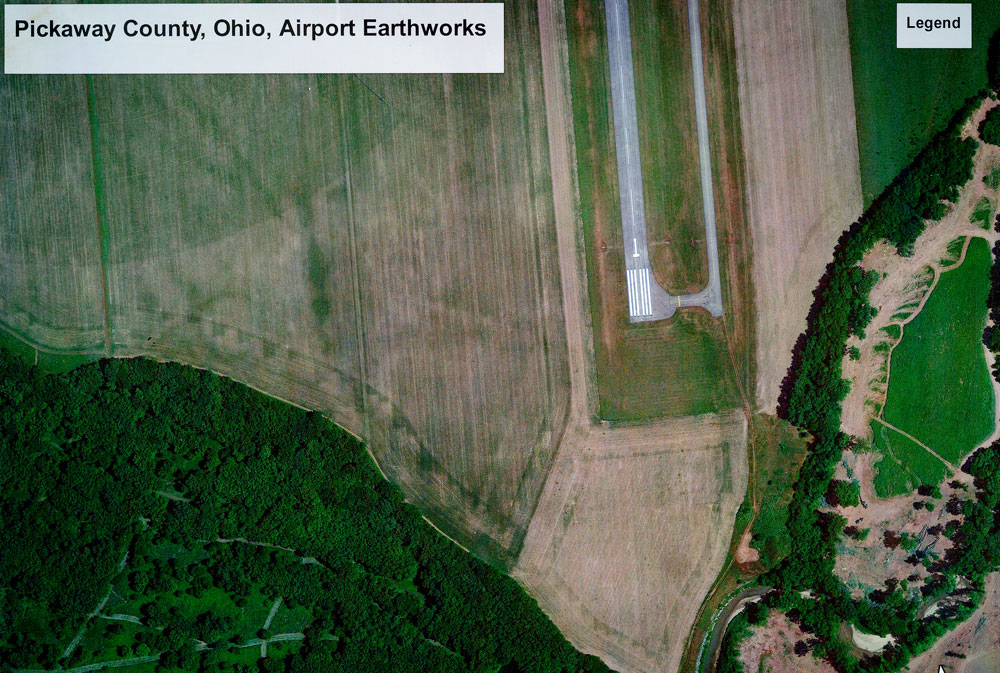 Google Earth Aerial Image of the Scippo-Scioto earthwork