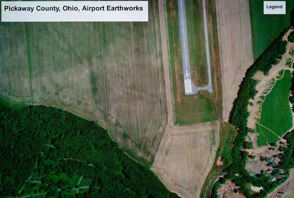 Google Earth Aerial Image of the Scippo-Scioto earthwork