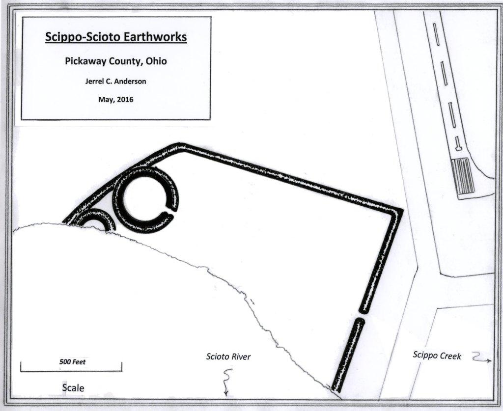 Map of the Scippo-Scioto Earthworks