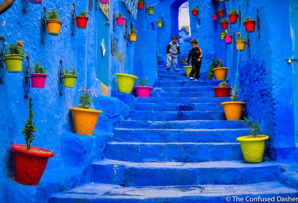 rue de chefchaouen, the blue city