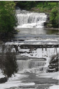 Talcotville Falls -winter-summer