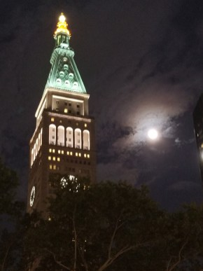 Moon & Prudential Clock Tower, NYC