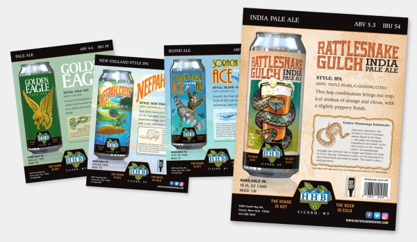 Hot House Brewing Sell Sheets