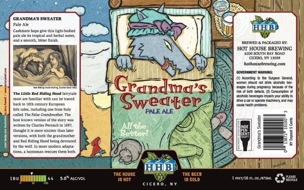 Grandma's Sweater Beer Label