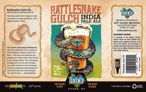 Rattlesnake Gulch IPA Beer Label