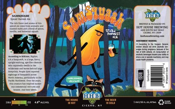 SamSquash Beer Label