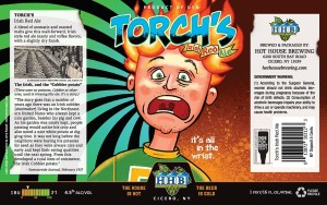 Torch's Irish Red Ale Beer Label