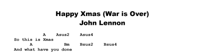 happy christmas war is over chords ultimate guitar christmaswalls co guitar lesson john lennon - John Lennon Christmas Song
