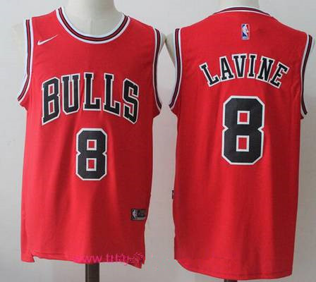 Mens Chicago Bulls 8 Zach LaVine Red 2017 2018 Nike