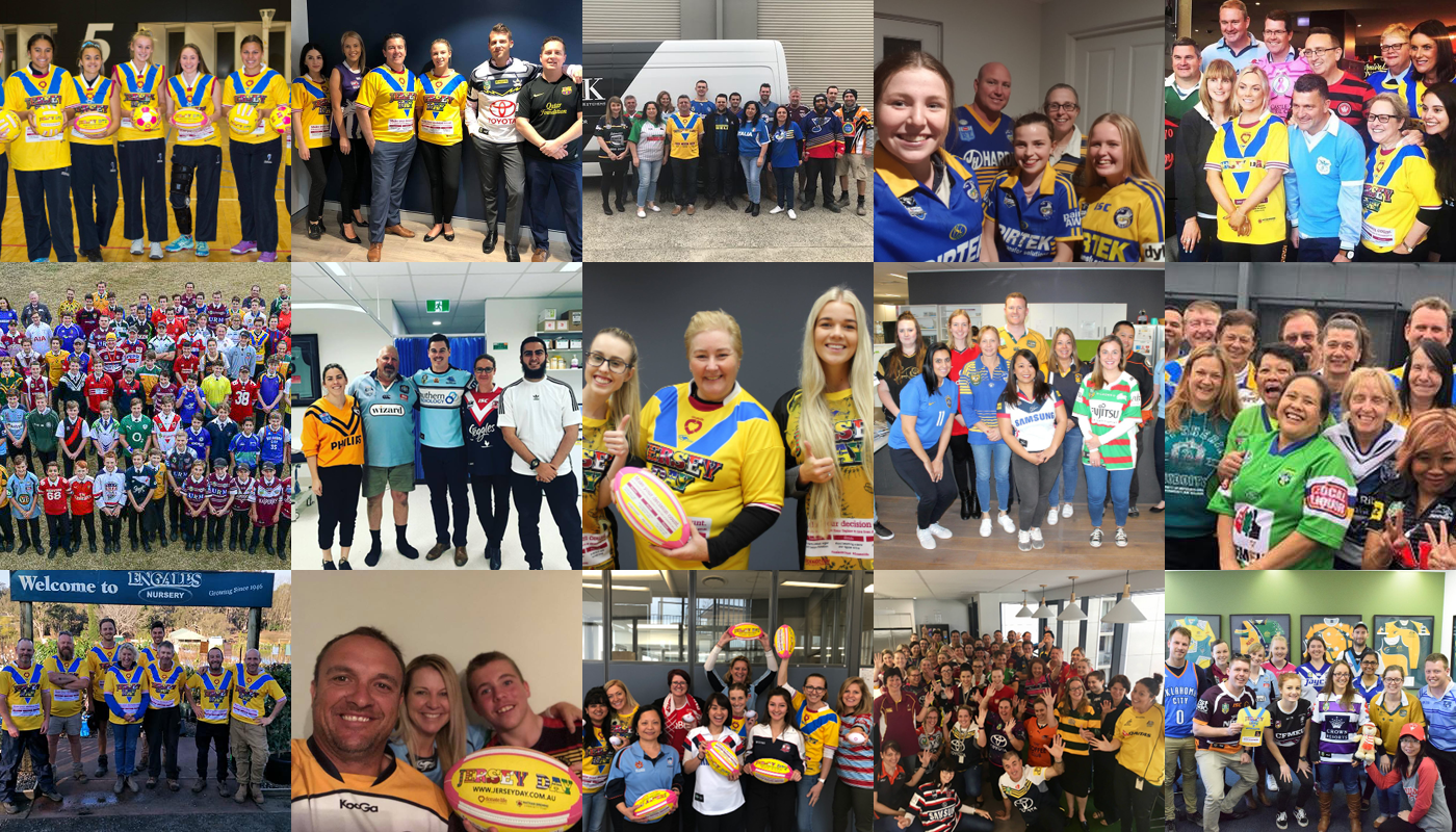 JERSEY DAY Community collage