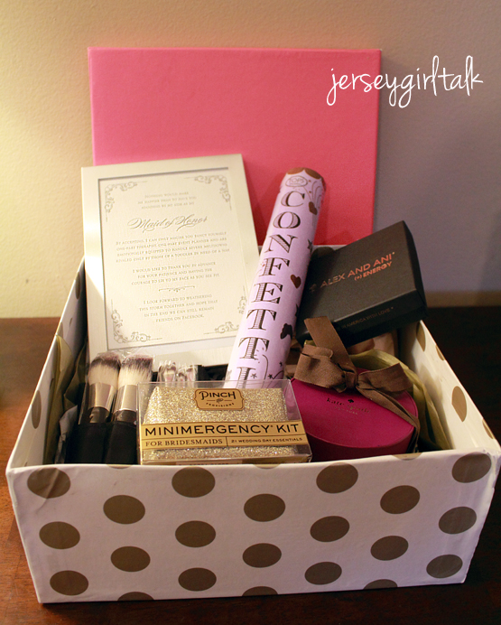 Gift Ideas Housekeeper: Maid Of Honor Gift Box Idea To Ask Them To Be In Your