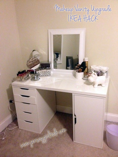 My Brand New Vanity Table Set Up Complete With Items From Ikea U0026 Home Goods