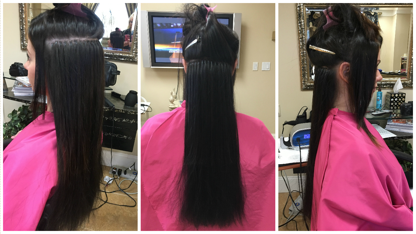 My experience with cold fusion hair extensions jersey girl talk the color of my hair extensions was 1b which is a very dark brown almost black the color matches the base of my hair however i do have some lightening on pmusecretfo Gallery