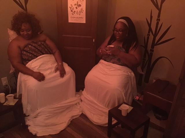 Marcelle and I on our Thrones