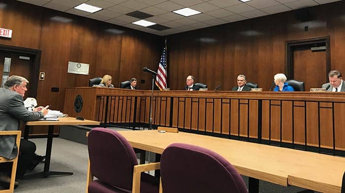 The resolution was passed unanimously by the Ocean County Board of Chosen Freeholders with only one comment. (Photo by Chris Lundy)