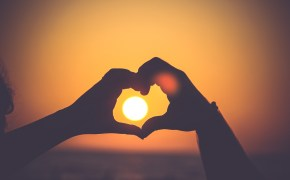 heart-sunset