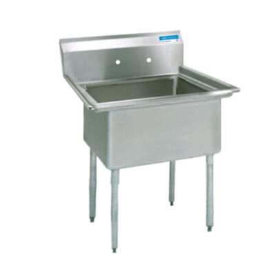 bk resources bks 1 18 12 commercial stainless steel sink without drain board