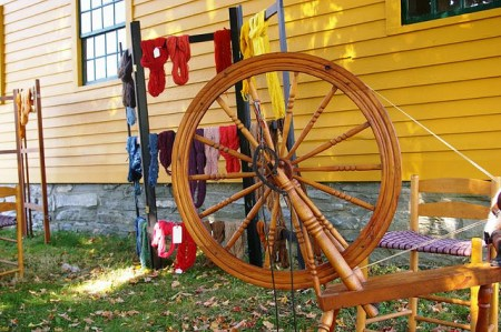 Antique Wheel and Natural Dyes