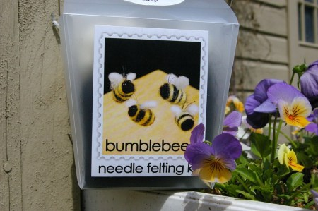Felted Bees!