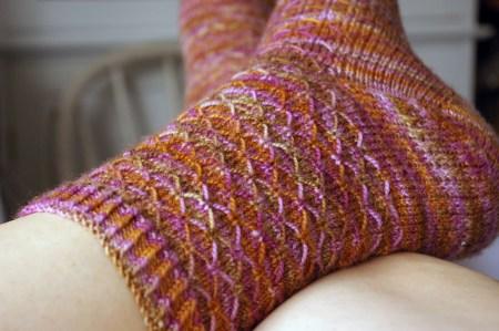 Fox Grape Leyburn Socks - Leg