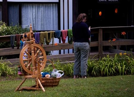 Leann with Tamara's wheel