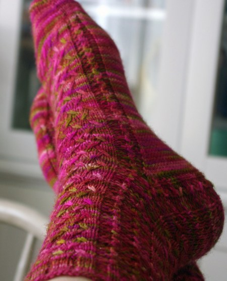 Mad Color Weave Socks - side view