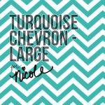 Large Turquoise Chevron