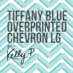 Overprinted Tiffany Blue chevron - large