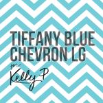 Tiffany blue large chevron