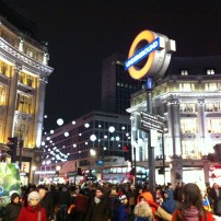 Lovely decorations at Oxford Circus