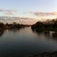 A different, serene view of the Thames