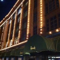 Harrod's at night