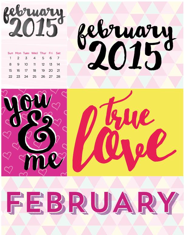 February 2015 free printable