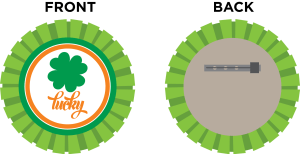 DIY St. Patricks Day badges