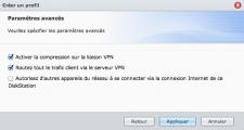 Paramètres de connexion au VPN, 2ème partie.