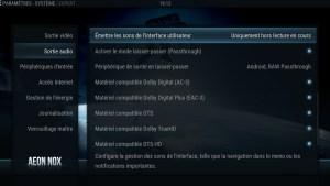 Shield TV - SPMC - Système Sortie Audio