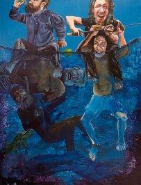 Personal tsunami, 2016, acrylic on canvas, 176,5 x 134,5 cm