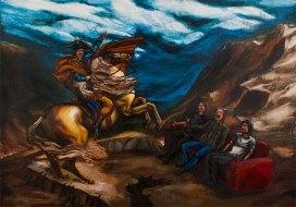 Napoleon and me, 2011, acrylic on canvas, 90 x 125 cm