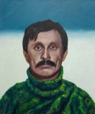 A Man with The Moustache, 2020, oil on canvas, 61 x 50 cm (The Wihuri Foundation Art Collection)