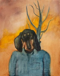 Dana, 2020, oil on plywood, 33,5 x 26,5 cm (private collection)