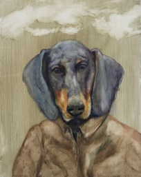 Din, 2020, oil on plywood, 33,5 x 26,5 cm (private collection)