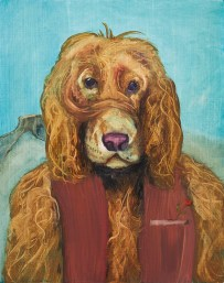 Otto, 2020, oil on plywood, 33,5 x 26,5 cm (private collection)
