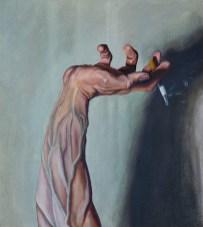 The Bad Hand of Aleksandr, 2020, oil on canvas, 49 x 44 cm (The Wihuri Foundation Art Collection)